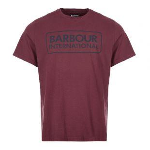 Barbour International T-Shirt Logo | MTS0369 RE94 Merlot Red