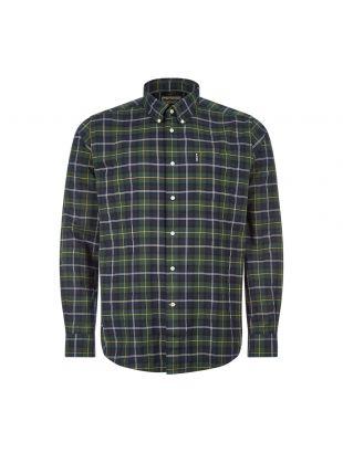 Barbour Tartan Shirt | MSH4816 TN55 Seaweed