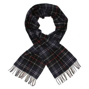 barbour scarf navy tartan lambswool usc0001 tn121