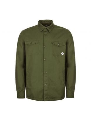 Barbour Beacon Overshirt | MOS0077 GN91 Twill Forest Green