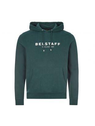 Belstaff Hoodie Logo |71130675 J61N0133 0211 Pine / Off White | Aphrodite