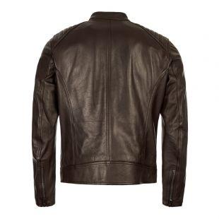 Leather Jacket V Racer – Dark Brown