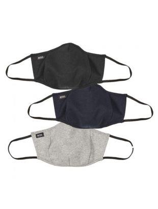 boss face masks three pack 50452522 960 grey / navy / black