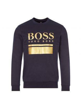 Boss Athleisure Sweatshirt Salbo | 50434921 402 Dark Blue | Aphrodite Clothing