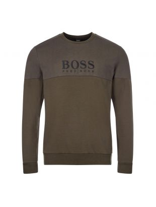 Boss Track Sweatshirt | 50443054 361 Open Green | Aphrodite Clothing