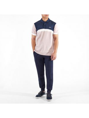 Athleisure Polo Shirt Paule 3 - Pink / Navy