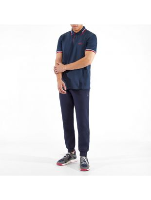 Athleisure Polo Shirt Paul Curved - Navy