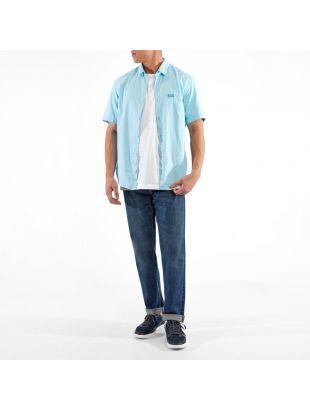 Athleisure Short Sleeve Shirt Brodi S - Open Blue