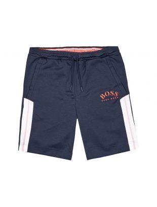 boss athleisure shorts headlo 50424218 410 navy