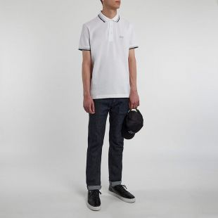 Athleisure Paddy Polo - White