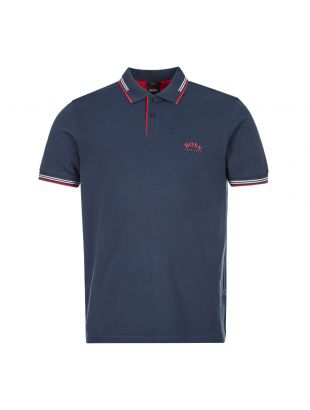 boss athleisure polo shirt paul curved 50412675 414 navy