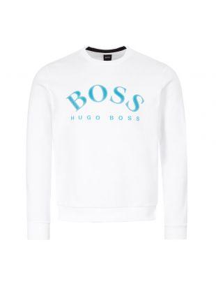 boss athleisure sweatshirt salbo 50430547 100 white