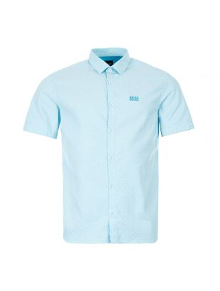 boss athleisure short sleeve shirt brodi s 50431845 488 open blue