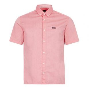 boss athleisure short sleeve shirt biadia r 50425624 620 pink