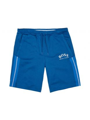boss athleisure shorts headlo 50424218 blue