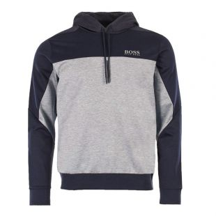 hugo boss athleisure hoodie soultech 50399318 410 navy/grey