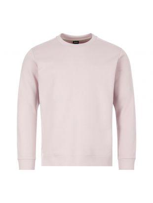 boss athleisure sweatshirt salbo x 50410319 682 pastel pink