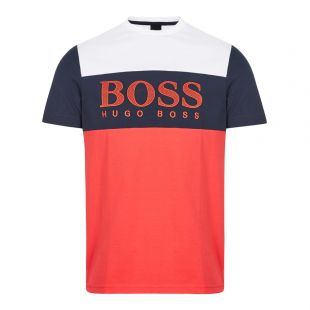 boss athleisure t-shirt 6 50424997 620 white / navy / red