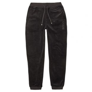boss bodywear velour sweatpants 50403954 001 black