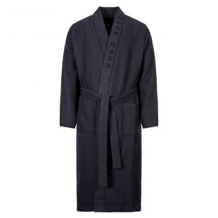 Boss Waffle Dressing Gown 5037821 403 In Navy At Aphrodite Clothing