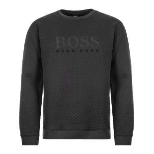 BOSS Bodywear Sweatshirt | 50414986 001 Black Quilted