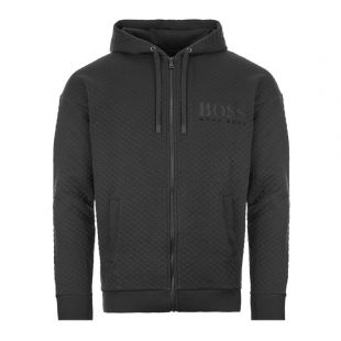 BOSS Bodywear Jacket | 50415002 001 Black Quilted