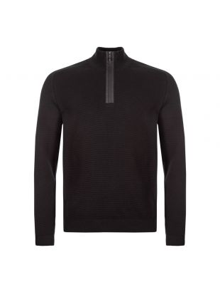boss athleisure half-zip sweatshirt zemat 50416962 001 black