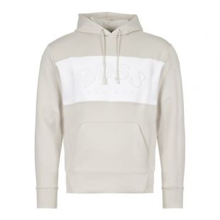 BOSS Athleisure Hoodie 50410340 273 In Light Beige