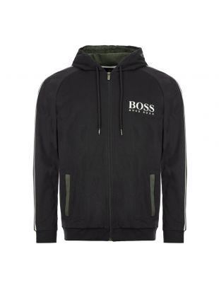 boss bodywear zip hoodie authentic 50424806 001 black