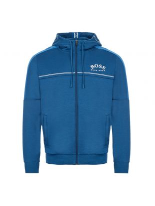 boss athleisure hoodie saggy 504215941 434 blue