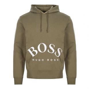 BOSS Athleisure Hoodie Sly | 50413135 305 Green