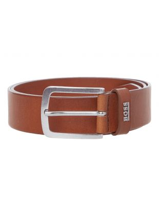 BOSS Belt Jor Logo | 50424636 210 Medium Brown