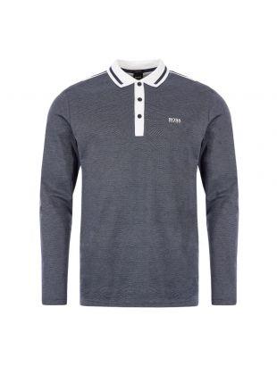 BOSS Athleisure Long Sleeve Polo Shirt Plisy 2 50419411 410 Navy