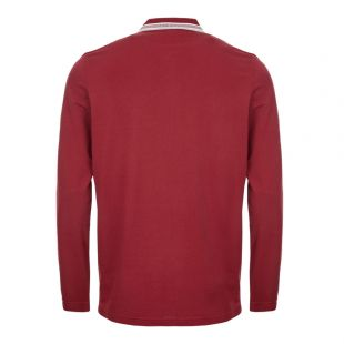 Athleisure Long Sleeve Polo Shirt – Burgundy