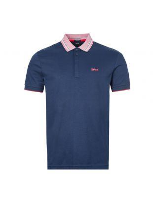 boss athleisure polo shirt paddy 1 | 50424198 410 navy