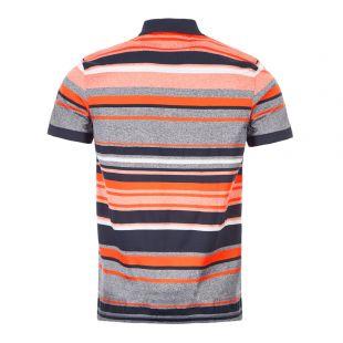Athleisure Polo Shirt Paddy 3 - Navy / Orange