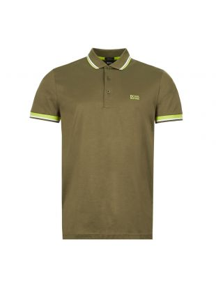boss athleisure polo shirt paddy 50426022 303 green