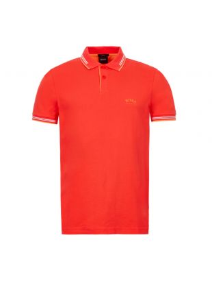 Boss Athleisure Paul Polo Shirt 50412675|621 In Coral At Aphrodite Clothing