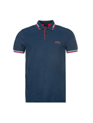 boss athleisure polo shirt paul curved 50412675 411 navy