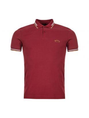 BOSS Athleisure Polo Shirt | 50412675 653 Dark Pink / Gold