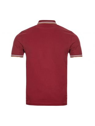 Athleisure Polo Shirt – Dark Pink / Gold