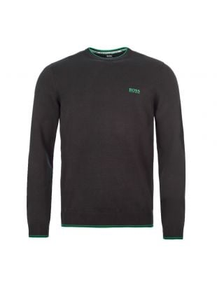 boss athleisure jumper rimex 50416985 001 black / green