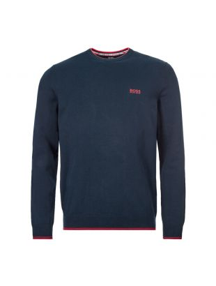 boss athleisure jumper rimex 50416985 410 navy / red