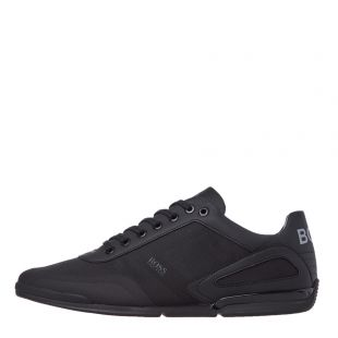 Boss Athleisure Saturn Lowp Trainers 50428234|001 In Black At Aphrodite Clothing