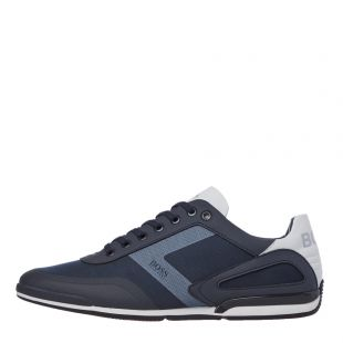 BOSS Saturn Lowp Act4 Trainers | 50428234 401 Dark Blue | Aphrodite 1994