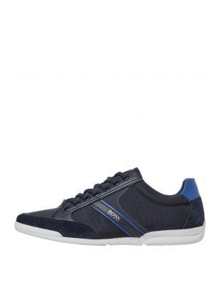 BOSS Saturn Low Trainers | 50407672 404 Dark Blue