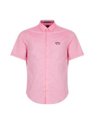 Boss Short Sleeve Shirt | 50431516 670 Pink | Aphrodite 1994