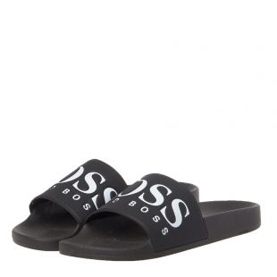 Athleisure Sliders - Black / White