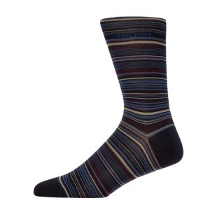 Boss Socks Multi Stripe 50414697|401 In Black At Aphrodite Clothing