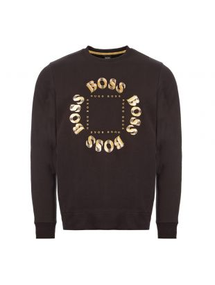 boss athleisure sweatshirt salbo circle 50426220 012 charcoal